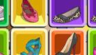 Juego de memoria de zapatos