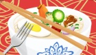 Juego de comida china