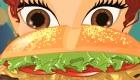 Cocina sabrosas hamburguesas