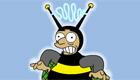 El hombre abeja de los Simpson
