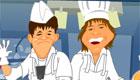 Hermanos en la cocina