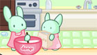 La pastelería con los conejos