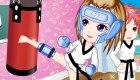 Juego de vestir de boxeo para chicas