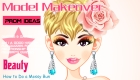 Maquillar a modelo de portada