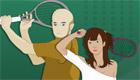 Juego de deporte de squash
