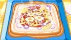 Cocinar una pizza cuadrada