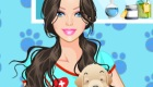 Vestir a una chica veterinaria