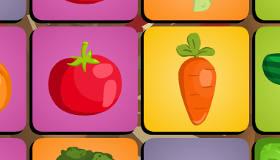 Juego de memoria de verduras