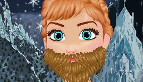 La barba de Anna Frozen