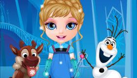 Anna y Elsa de pequeñas