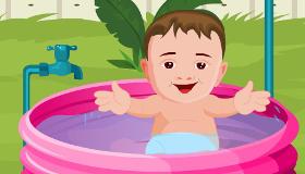 Bañar al bebé