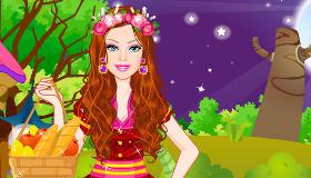 Vestir a Barbie de Caperucita Roja