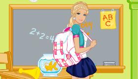 Vestir a Barbie para ir al colegio