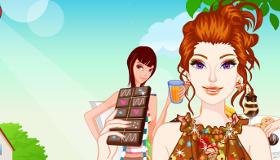 Barbie en el mundo de chocolate