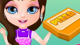 Bebé Barbie hace pizza