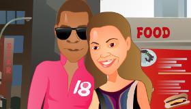 Juego de besos de Beyonce y Jay-Z