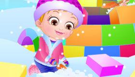 Baby Hazel en la nieve