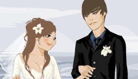 Vestir a un novio y su novia de boda
