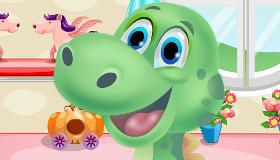 Cuida a un bebé dinosaurio