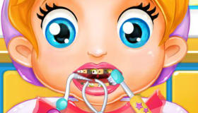 La bebé Lala en el dentista