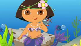 Vestir a Dora de sirena