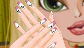 Uñas a la manicura francesa