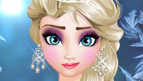 Elsa en clase de maquillaje