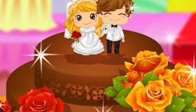 Pastel de boda de chocolate
