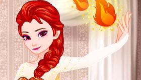 Viste a Elsa de fuego