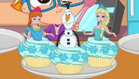 Frozen haciendo pasteles