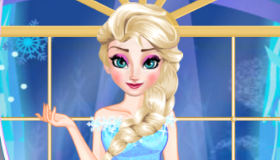 Elsa en el baile de Frozen