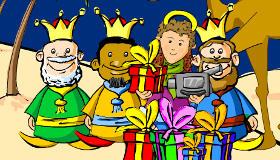 Foto con los tres Reyes Magos