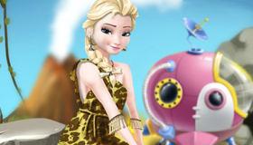 Elsa en la edad de piedra
