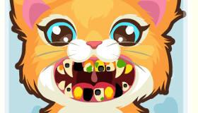 Un gato en el dentista