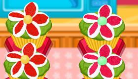 Cupcakes de flores
