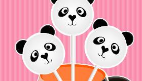Cake Pops de pandas