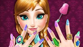 Manicura Frozen para Anna