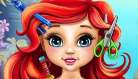 Cortar el pelo a la bebé Ariel