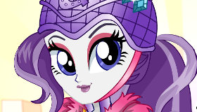 Rarity a la moda de Equestria Girls