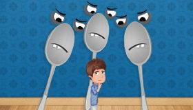 Liam Payne perseguido por cucharas