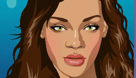 Viste y maquilla a Rihanna