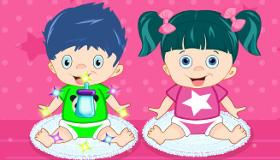 Cuidar de bebés mellizos