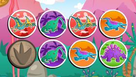 Juego de memoria de dinosaurios