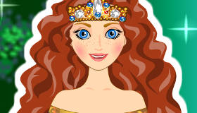 Princesa Merida peinados