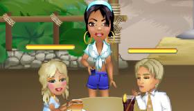 Una chica camarera en Miami