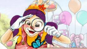 Juego de objetos ocultos de carnaval