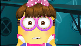 Vestir a una chica Minion