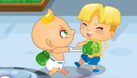 Bebé contra los matones
