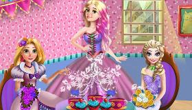 Rapunzel Anna y Elsa