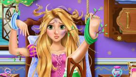 Rapunzel en el hospital